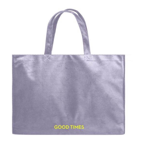 Good Times - Velvet Shopper Bag VEBL0039
