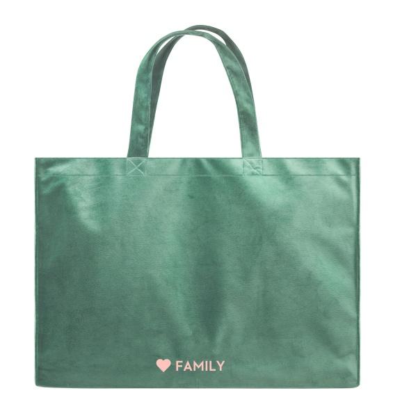 Heart Family - Velvet Shopper Bag VEBL0036
