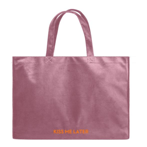 Kiss Me Later - Velvet Shopper Bag VEBL0038