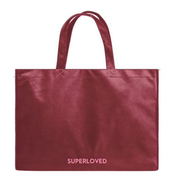 Superloved - Velvet Shopper Bag VEBL0034